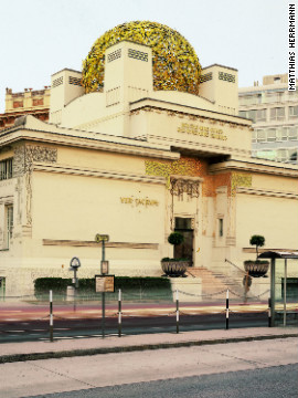 "Klimt was one of a number of prominent avant-garde artists in Vienna collectively known as the ""Secessionists.""<!-- --> </br><!-- --> </br> Pictured is the art nouveau Secession Museum, which boasts Klimts's Beethoven mural and temporary exhibitions of contemporary art."