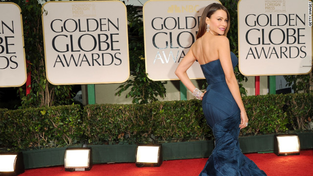 Sofia Vergara arrives at the Golden Globe Awards on January 15.