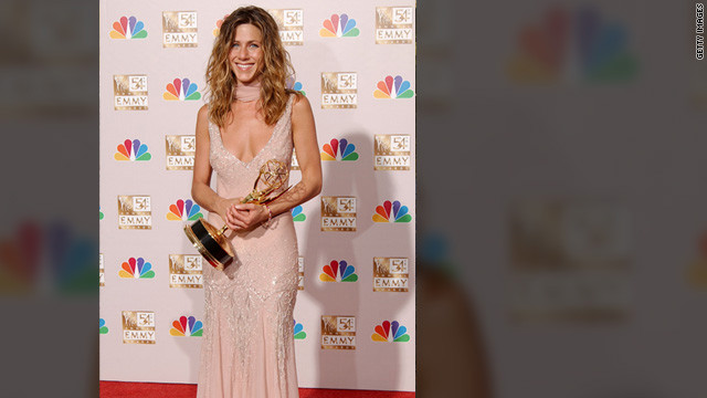 "At the Emmy Awards in 2002, Aniston won the award for outstanding lead actress in a comedy series for her work on ""Friends."""