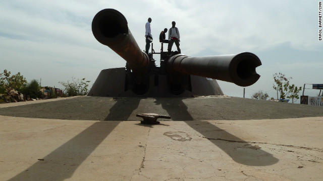French cannons atop Gorée Island.