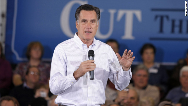 Republican presidential candidate Mitt Romney speaks during a campaign stop at Eagle Manufacturing Corporation Tuesday in Shelby Township, Michigan.