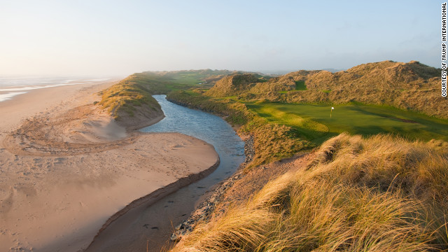 The 3rd hole of the championship course is cut hard against the Aberdeenshire coastline.