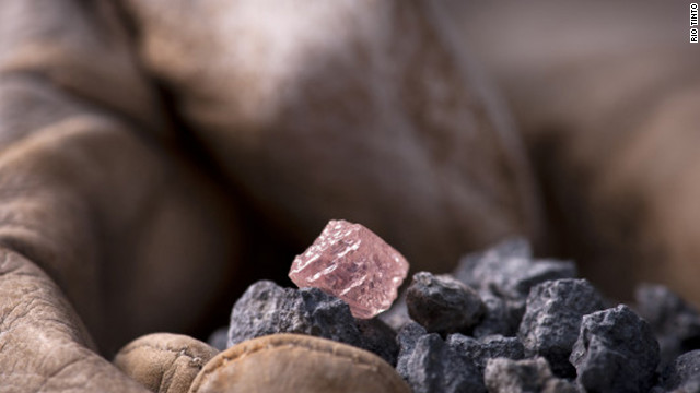 A 12.76-carat rough pink diamond was found in a West Australian mine, the largest ever found in the country.