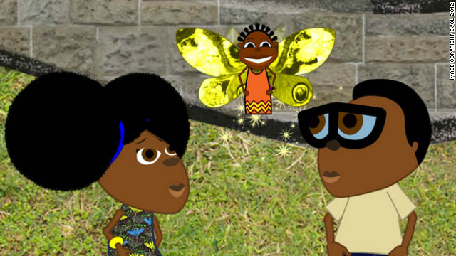 Nigerian cartoon &quot;Bino and Fino&quot; tells the story of a brother and sister who live with their grandparents in an unnamed African city. 