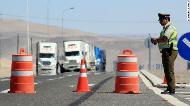 Minas antipersonales causan el cierre de la frontera entre Chile y Perú