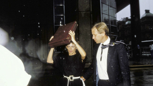 Lindy and Michael Chamberlain enter a Sydney court in January 1987. Lindy was sentenced to life in jail in 1982 for her daughter's murder, a conviction that was later quashed.