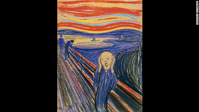 Edvard Munch's &quot;The Scream&quot; sold for $120 million at Sotheby's in New York on Wednesday, May 2, setting a world record for a work of art sold at auction.