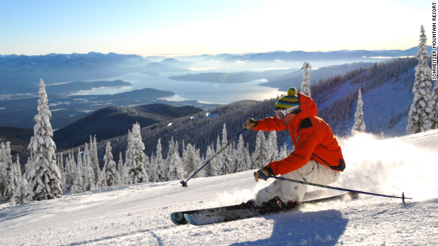 The terrain at Schweitzer varies from the bunny hill to steep double black pitches.