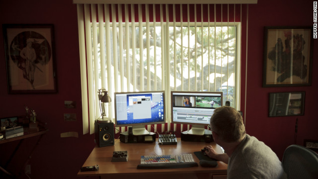 Tent has a full editing console in his home office. The practice, once characterized by film clips hanging from clotheslines, has gone digital.