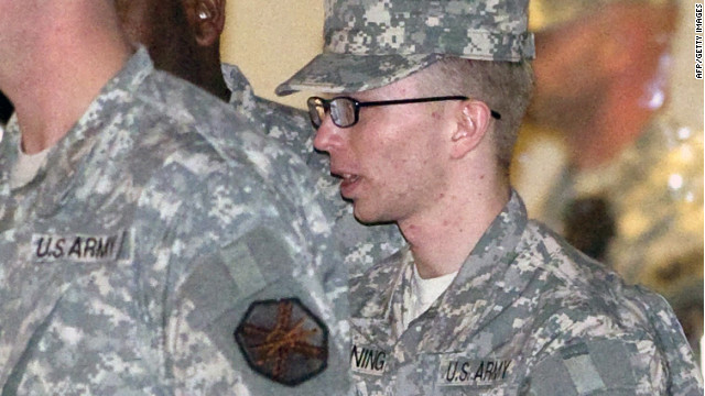 Bradley Manning is accused of funneling thousands of documents to Wikileaks, according to military officials.