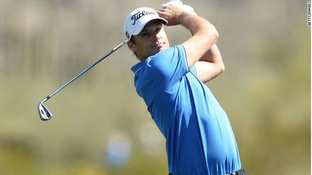 Nick Watney plays an iron-shot during his victory over Tiger Wood at the WGC Match Play Championship. 