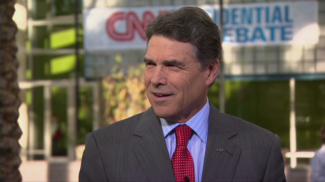 Texas Gov. Rick Perry initially gave his support to Newt Gingrich after dropping out of the presidential race in January.