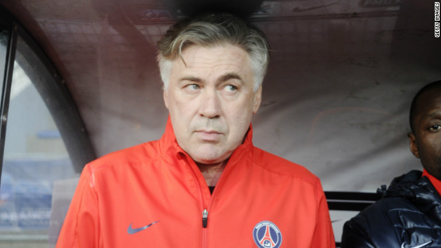 Italian coach Carlo Ancelotti won the English Premier League and FA Cup double as Chelsea manager in 2010.