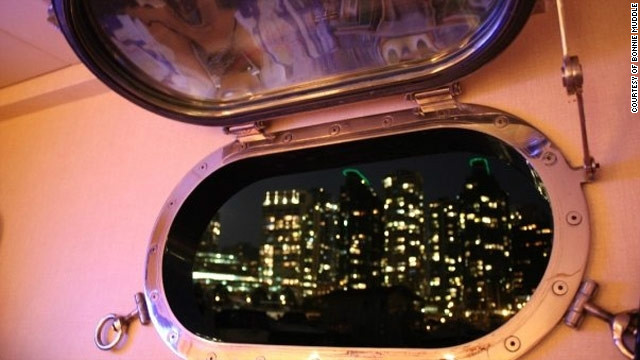Porthole tourism: Bonnie says in reality sometimes all superyacht workers see of the ports they visit is through their porthole.