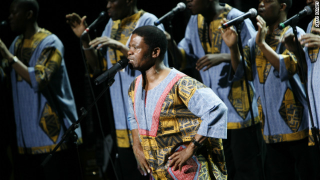 Ladysmith Black Mambazo perform Paul Simon's &quot;Under African Skies&quot; in 2008 in New York City.