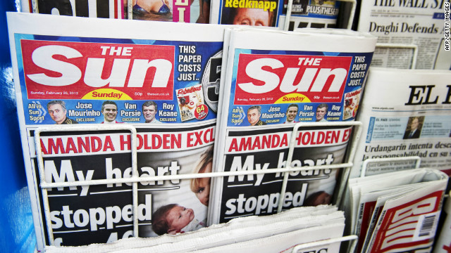The Sun on Sunday hits Britain's news stands for the first time.