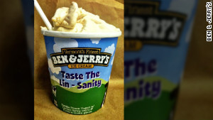 Ben & Jerry's 'Lin-Sanity' flavor now features waffle-cone pieces instead of fortune cookies.