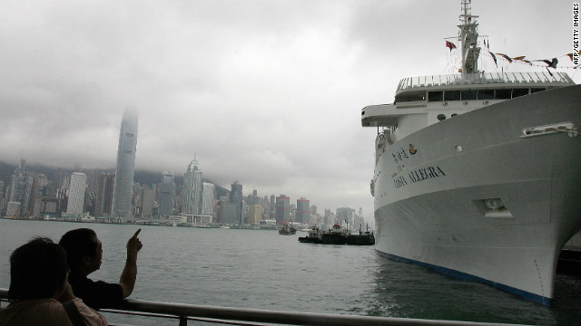 The Costa Allegra berthed in Hong Kong prior to its maiden voyage to Mumbai, India, on May 29, 2006.