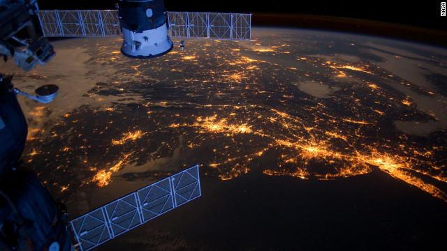 La Costa Este de Estados Unidos... de noche y desde el espacio