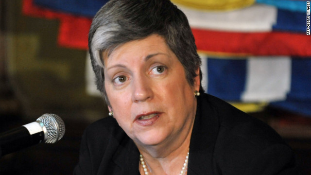 U.S. Secretary of Homeland Security Janet Napolitano speaks at a press conference on Monday in Mexico City.
