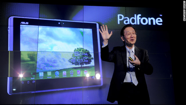 "Another take on the ""phablet"" comes from Asus. The PadFone docks with a screen to become a tablet. It's ""the Russian doll of the mobile world,"" wrote Will Findlater, editor of Stuff, a gadget magazine."