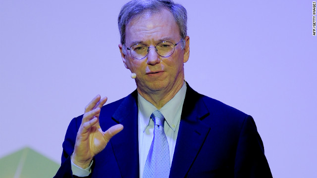 Google Executive Chairman Eric Schmidt, shown here speaking in February at the Mobile World Congress trade show.