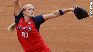 Finch pitches on Day 8 of the Beijing 2008 Olympic Games on August 16, 2008 in China.
