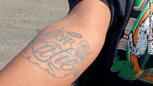 A tattoo memorializes Cee Cee Davis\' best friend, who was killed when Davis was 14.