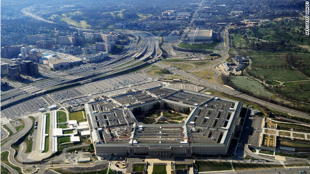 This picture taken 26 December 2011 shows the Pentagon building in Washington, DC.