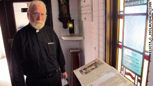 Terry keeps the 2010 murder book in the church\'s chapel. His wife collected news clippings about each murder until it became too emotionally taxing.
