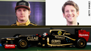 Kimi Raikkonen and Romain Grosjean