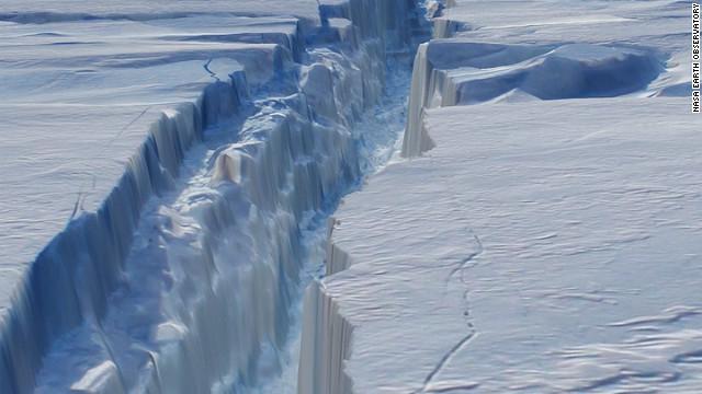 FOTO: Así es la gestación de un iceberg en la Antártida