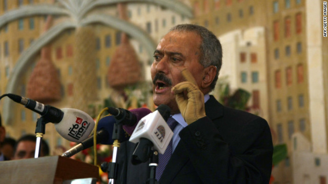 Yemen's former president Ali Abdullah Saleh was admitted Sunday to a hospital in Sanaa.