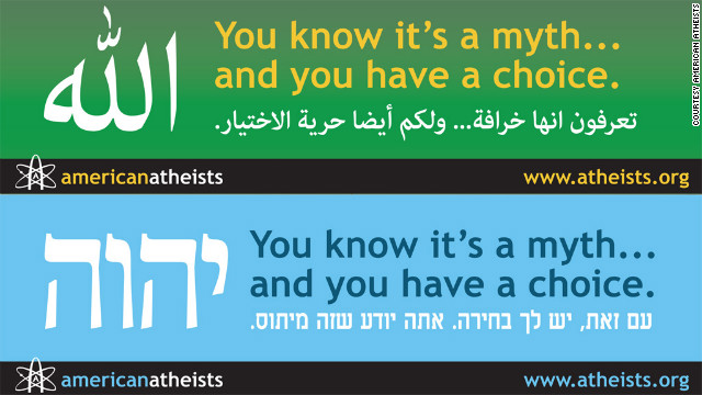 Atheist group targets Muslims, Jews with myth billboards in Arabic and Hebrew