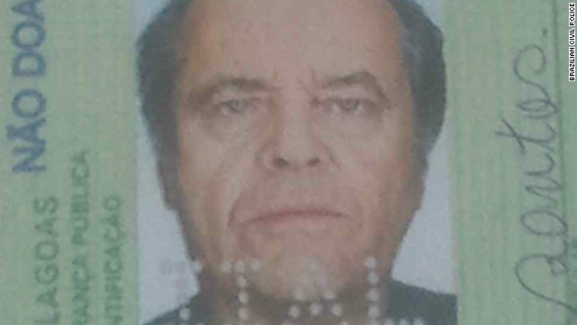 You don't know Jack! Brazilian cops bust man using Nicholson's face on fake ID