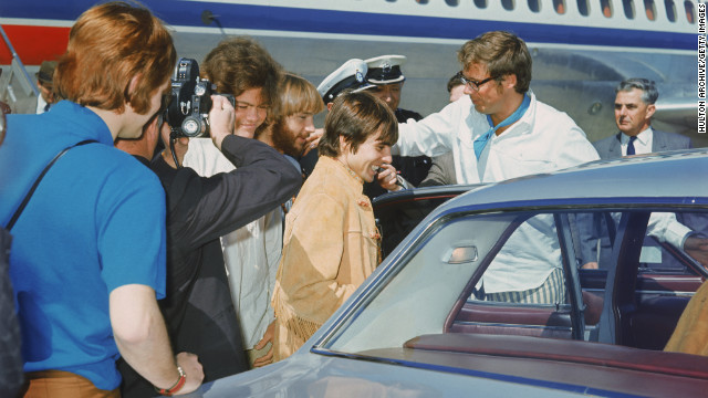  The Monkees arrive at Melbourne airport in Australia in 1968. 