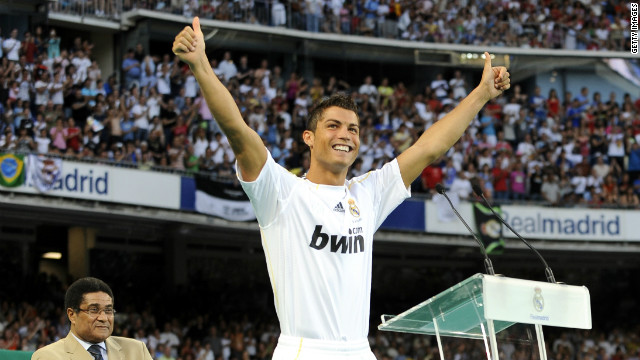 Kaka's time as the world's most expensive player was short, with Real smashing the transfer record once again to sign Cristiano Ronaldo from Manchester United for a reported $130 million.