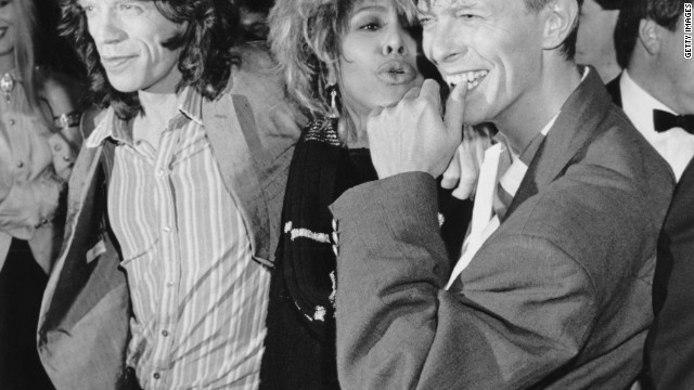 Tina Turner, pictured with Mick Jagger and David Bowie in 1986, revived her career thanks to well-chosen collaborations.