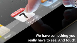 This image was on the invitation Apple sent out for its Wednesday launch event. It looks like an iPad, right?