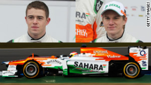 Paul di Resta and Nico Hulkenberg
