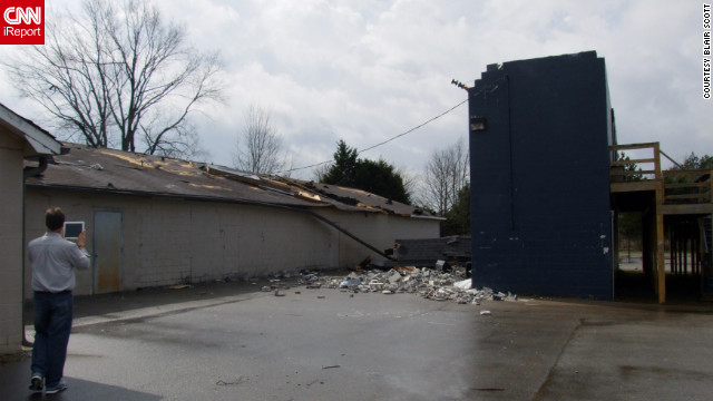 Buckhorn High School in Huntsville, Alabama, sustained damage from a tornado on Friday.