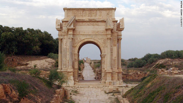 The Arch of Septimius Severus is one of the gems at Leptis Magna, which was buried for centuries under the sand.