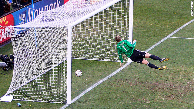 FIFA President Sepp Blatter wants goal-line technolgy at the next World Cup to stop controversial incidents like this one.