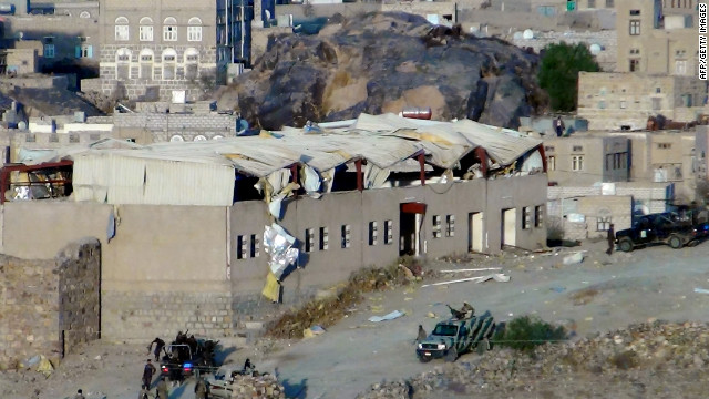 Damage is heavy after an al Qaeda-linked suicide bombing Saturday in Bayda, Yemen.