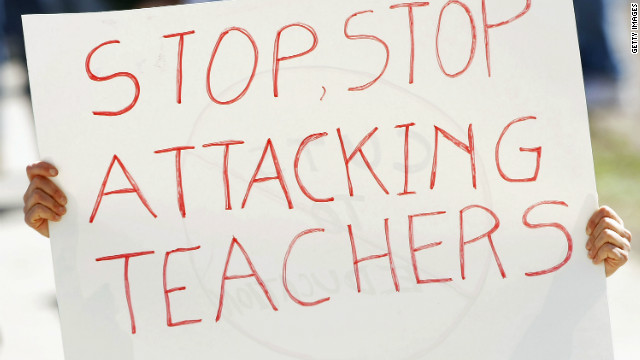 My View: When did teacher bashing become the new national pastime?