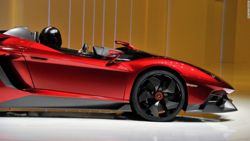 The new Lamborghini Aventador model is shown ahead of the 82nd Geneva Car Show.