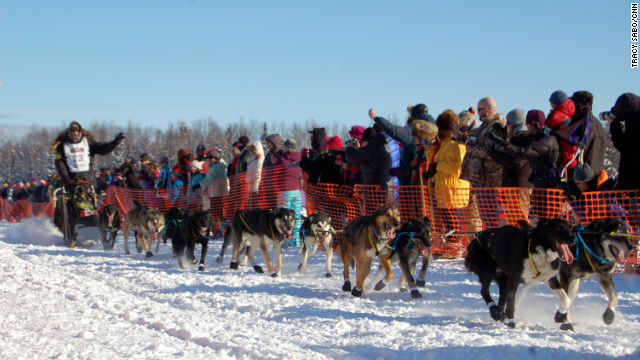 The 2012 Iditarod official start took place in Willow, Alaska, Sunday afternoon under crystal clear blue skies.