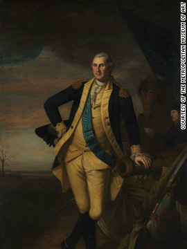 The collection of American art at the newly renovated American Wing at the Metropolitan Museum of Art is a chronoloigcal exploration of the nation's major historical events as well as a celebration of its art. <br/><br/><br/><br/>Pictured is a portrait of George Washington, by Charles Willson Peale.