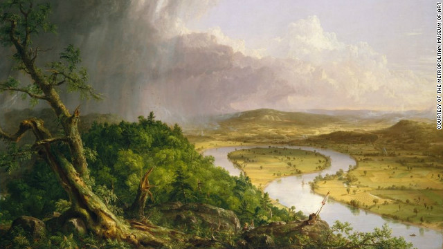 "The natural environment was of great importance to painters from the Hudson River School. <br/><br/><br/><br/>Pictured is the work ""View from Mount Holyoke, Northampton, Massachusetts, after a Thunderstorm,"" by Thomas Cole."