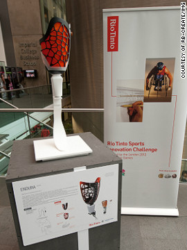 """Endura"" is a knee socket for a prosthetic limb which could provide a more flexible fit for athletes during competition."